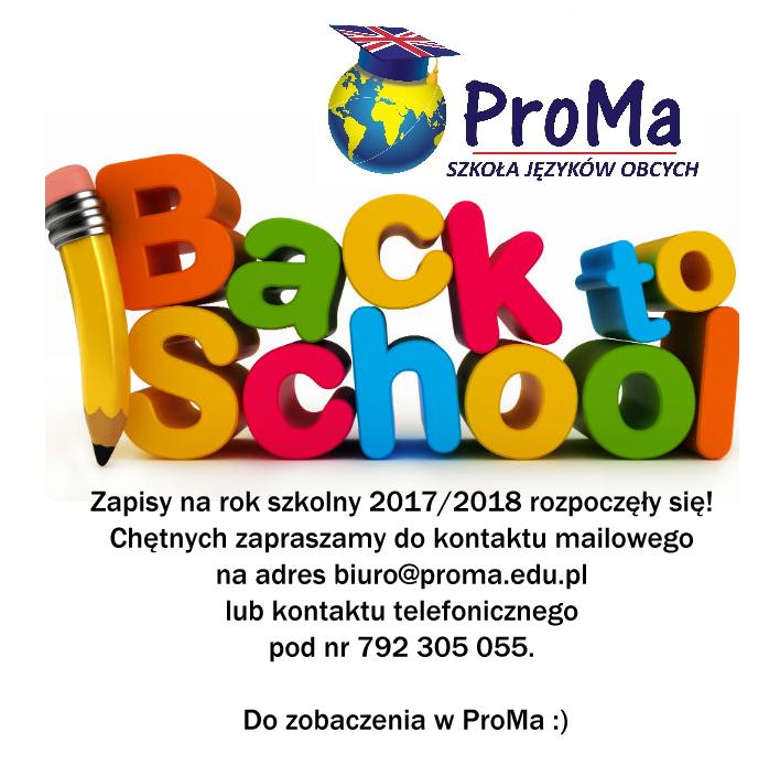 Nowy Rok Szkolny 2017/2018
